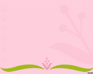 Pink Flower Powerpoint Template