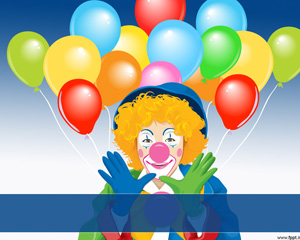Circus Clown Powerpoint PPT Template