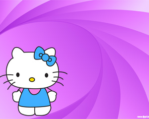 Hi Hello Kitty PPT PPT Template