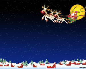 Navidad con Papa Noel PPT PPT Template