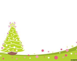 Plantilla PowerPoint con Árbol de Navidad y Verde